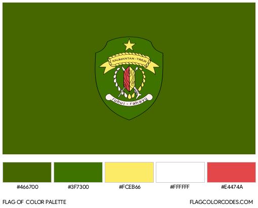 East Kalimantan Flag Color Palette