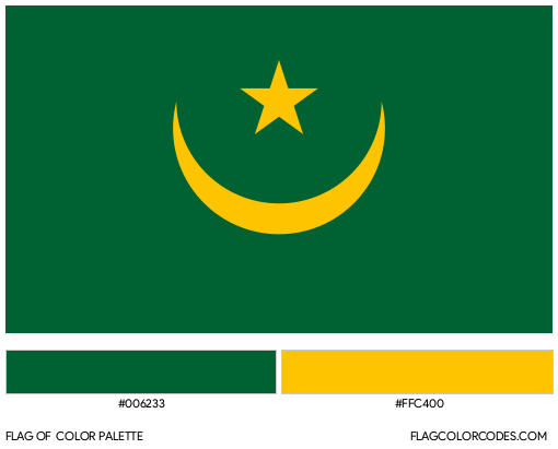 Old Mauritania Flag Color Palette
