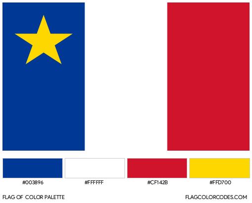 Acadia Flag Color Palette