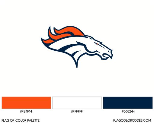Denver Broncos Flag Color Palette