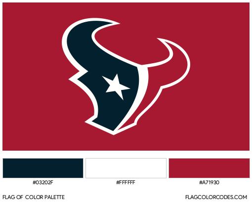 Houston Texans Flag Color Palette