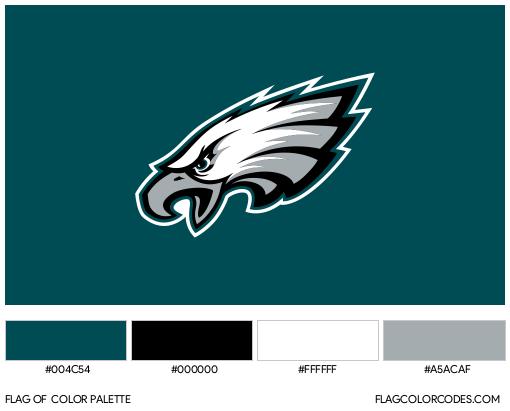 Philadelphia Eagles Flag Color Palette
