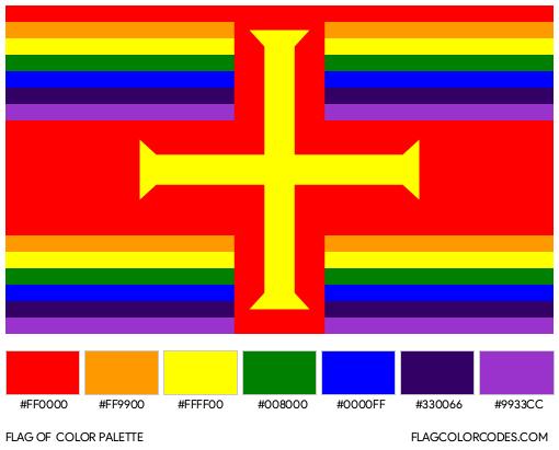 Guernsey Gay Pride Flag Color Palette