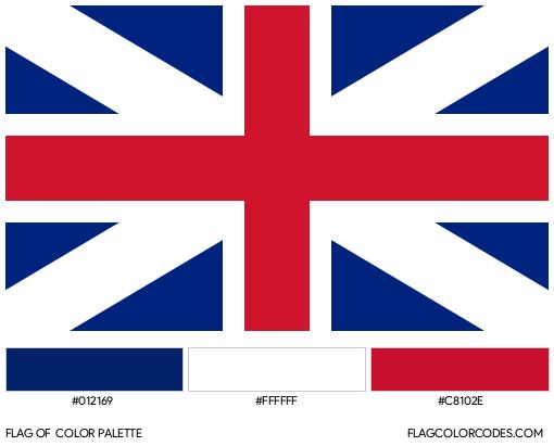 Great Britain Flag Color Palette