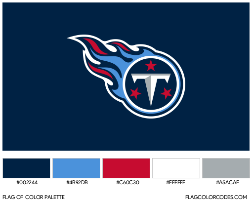 Tennessee Titans Flag Color Palette