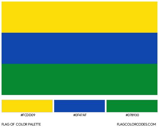Guainía Flag Color Palette