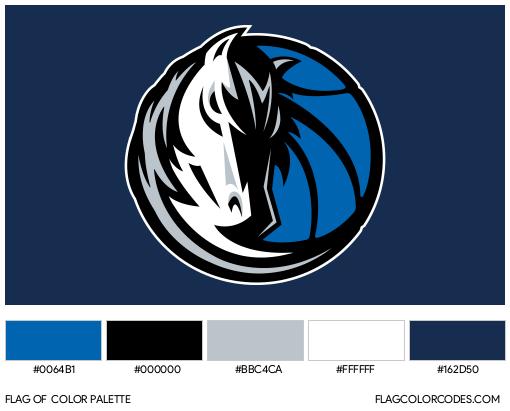 Dallas Mavericks Flag Color Palette