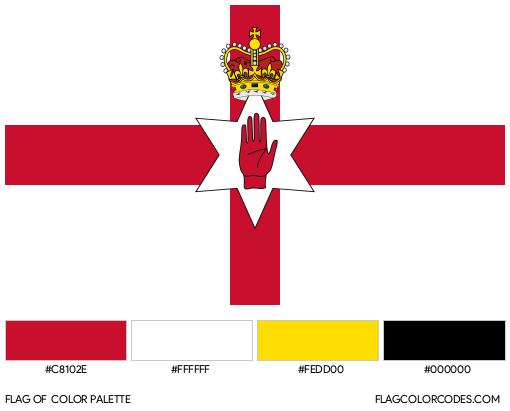 Northern Ireland Flag (Ulster Banner) Flag Color Palette