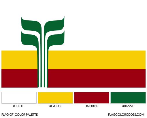 Franco-Manitobans Flag Color Palette