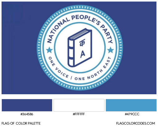 National People's Party Flag Color Palette