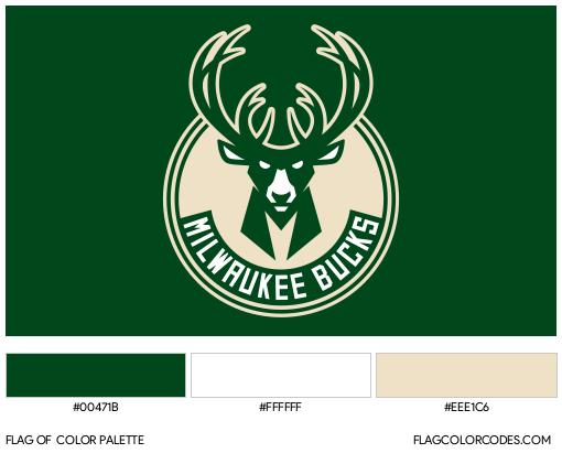 Milwaukee Bucks Flag Color Palette
