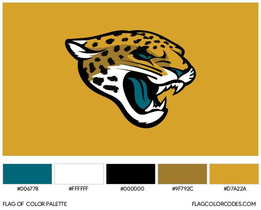 Jacksonville Jaguars Flag Color Palette