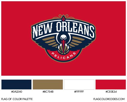 New Orleans Pelicans Flag Color Palette