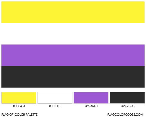 Nonbinary Flag Color Palette