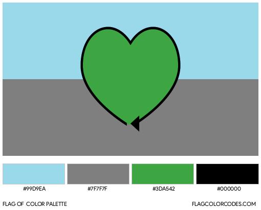 Autoromantic Flag Color Palette