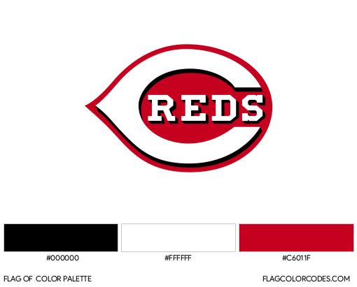 Cincinnati Reds Flag Color Palette