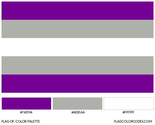 Greysexual Flag Color Palette