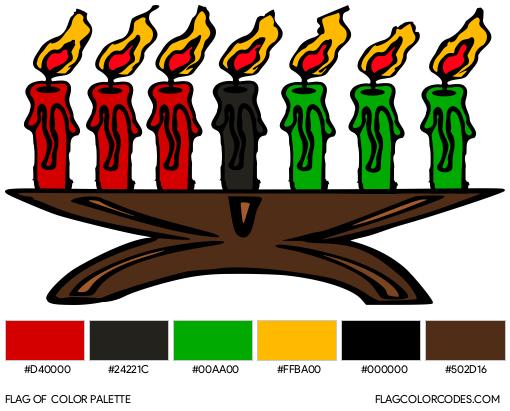 Kwanzaa Flag Color Palette