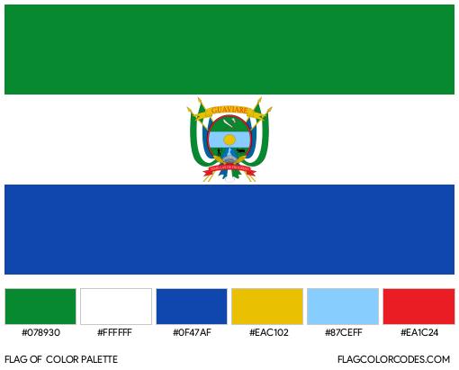 Guaviare Flag Color Palette