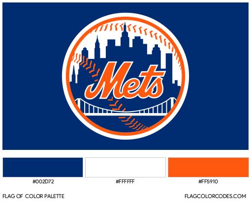 New York Mets Flag Color Palette
