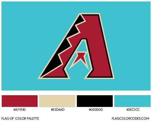 Arizona Diamondbacks Flag Color Palette