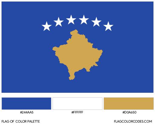 Kosovo Flag Color Palette