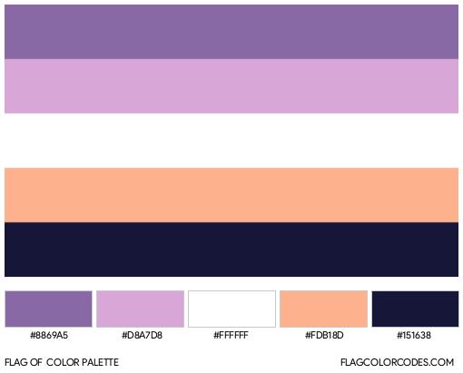 Biromantic (Alternate #2) Flag Color Palette