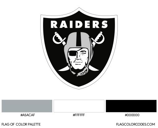 Las Vegas Raiders Flag Color Palette