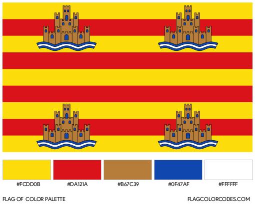 Ibiza Flag Color Palette