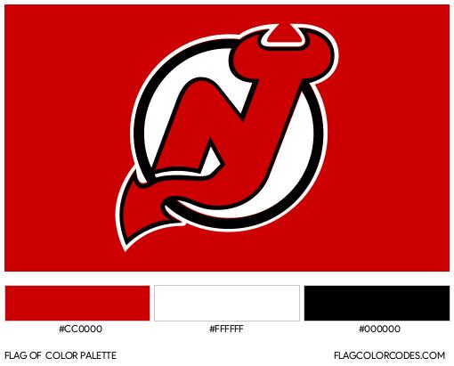 New Jersey Devils Flag Color Palette