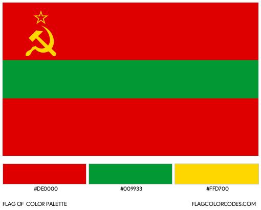 Transnistria Flag Color Palette
