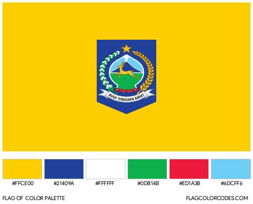West Nusa Tenggara Flag Color Palette