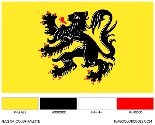 Flemish Community Flag Color Palette