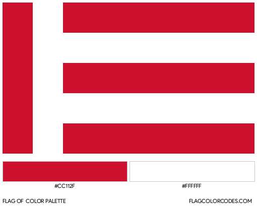 Eindhoven Flag Color Palette