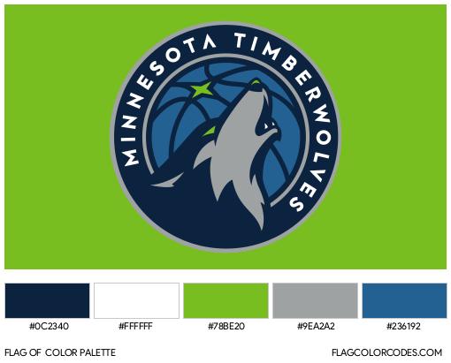 Minnesota Timberwolves Flag Color Palette