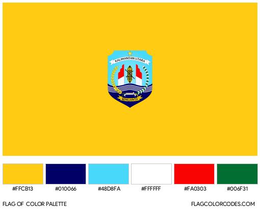 North Kalimantan Flag Color Palette