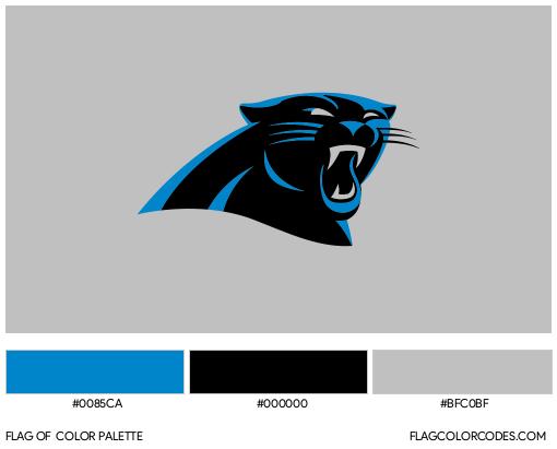Carolina Panthers Flag Color Palette