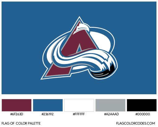 Colorado Avalanche Flag Color Palette