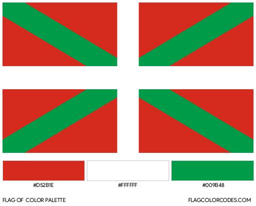 Basque Country Flag Color Palette