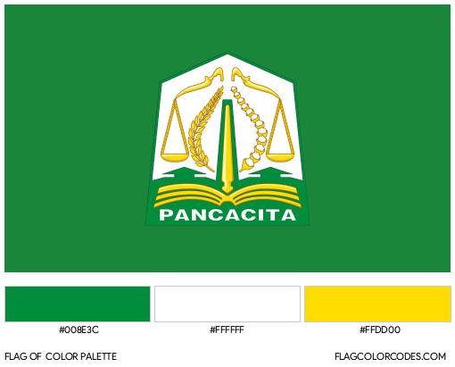 Aceh Flag Color Palette