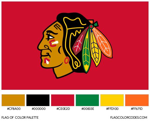 Chicago Blackhawks Flag Color Palette
