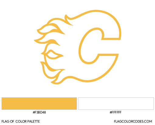Calgary Flames Flag Color Palette