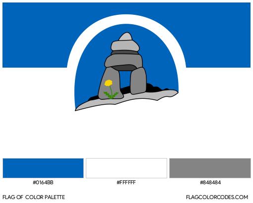 Franco-Nunavois Flag Color Palette