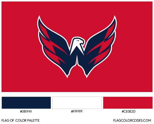 Washington Capitals Flag Color Palette