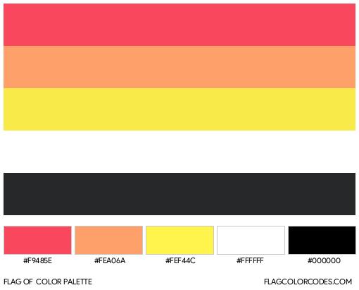 Akiosexual Flag Color Palette