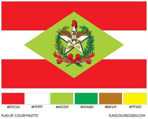 Santa Catarina Flag Color Palette