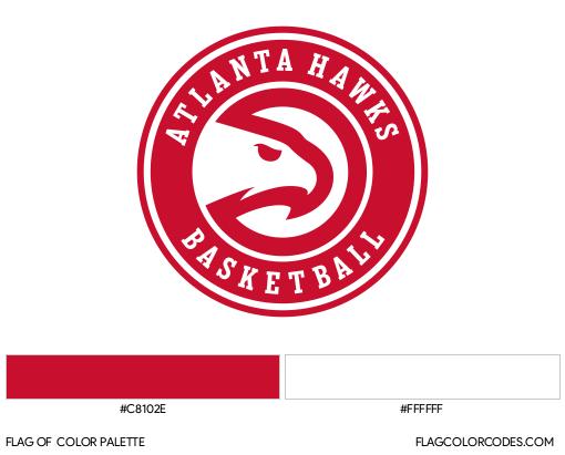 Atlanta Hawks Flag Color Palette