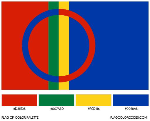 Sapmi Flag Color Palette