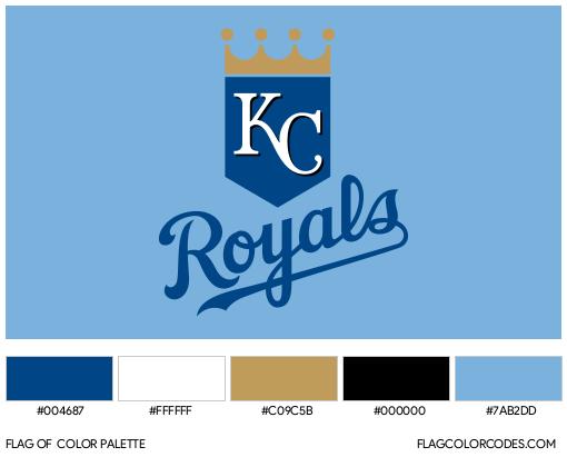 Kansas City Royals Flag Color Palette