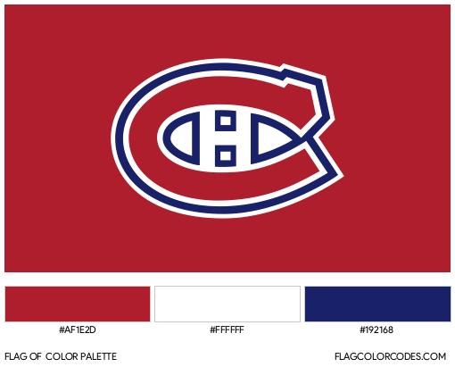 Montreal Canadiens Flag Color Palette